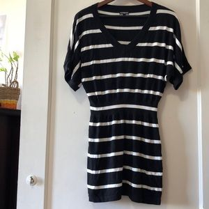 Black and white striped Express Sweater Dress